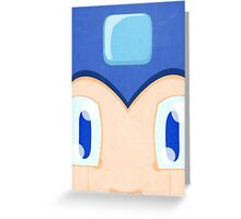 Megaman: Robotic Eyes Greeting Card