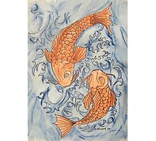 Two Large Koi Photographic Print