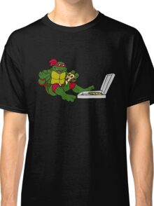 TMNT - Raphael with Pizza Classic T-Shirt