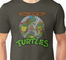 TMNT - Sewer Lid Four Turtles with Splinter  Unisex T-Shirt
