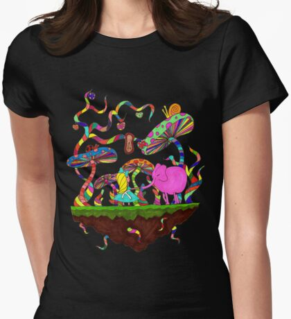 Alice and the Pink Elephant Womens Fitted T-Shirt