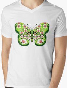 Butterfly T-Magnolias Mens V-Neck T-Shirt