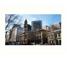 Adelaide Town Hall, King Wlm.Street, City. Art Print