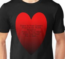 Peace From Your Heart Unisex T-Shirt