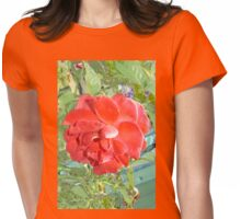 Rose of Red Womens Fitted T-Shirt