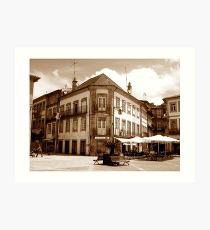 Off the fountain;......Ponte de Lima Village series I !... Art Print