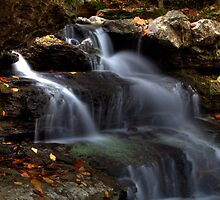 Cagles Mill Waterfall #3 by Jeff VanDyke