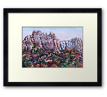 Snoopy Rock - Sedona Arizona Framed Print