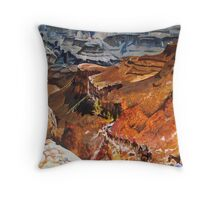 Mule Train at the Grand Canyon Throw Pillow