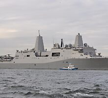 uss new york...passing wosrld trade center site by francesm