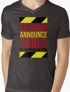 Spanish Announce Table Re-Construction Crew Mens V-Neck T-Shirt