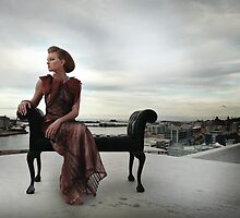 Paige on Grand Mecure Rooftop Overlooking Nobby's Beach by Jacqui Clancy