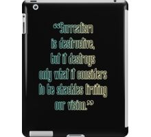 Surrealism Is Destructive iPad Case/Skin