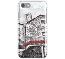 Graphite pencil drawing with red gouache iPhone Case/Skin