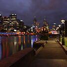 Melbourne after dark by Ian Stevenson