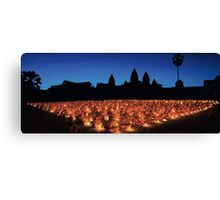 The Birth of Buddah ceremony, Angkor Wat. Canvas Print