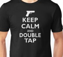 Keep Calm and Double Tap  Unisex T-Shirt
