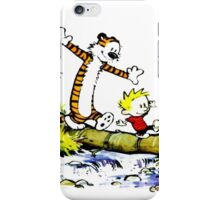 Calvin funny and hobbes funny iPhone Case/Skin