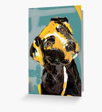 Dog Boris Greeting Card
