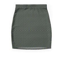 COFFEE GREEN PATTERN Mini Skirt