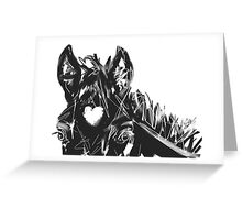 Horse Foal Bless you with love Greeting Card