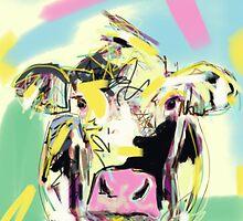 Cow- Happy cow by Go van Kampen