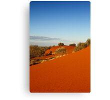 Red dune landscape of central Australia Canvas Print