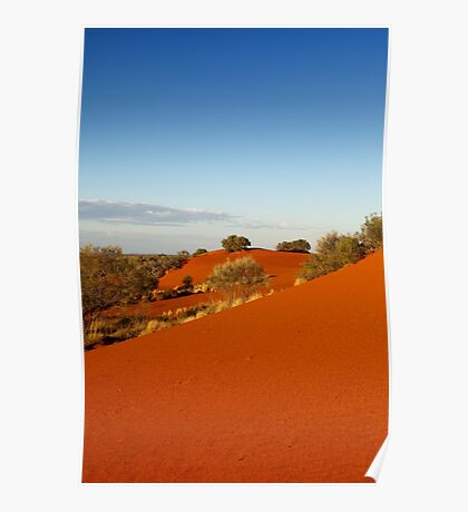 Red dune landscape of central Australia Poster