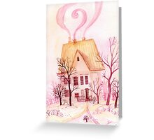 Pinky fairytale cottage Greeting Card