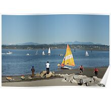 A Sunny October Day at Crescent Beach Poster
