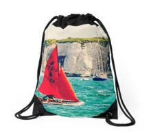 Little Red Sailboat. Drawstring Bag