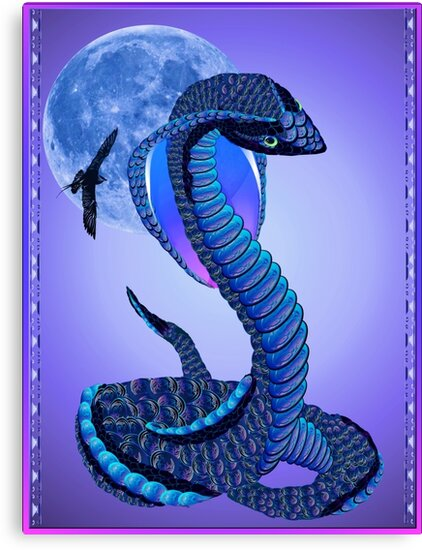 A Big Blue Snake -Blue Moon by Lotacats