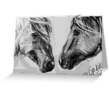 Horse - Together 12 Greeting Card