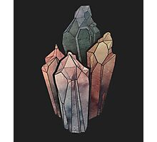 Dark Watercolor Crystals Photographic Print