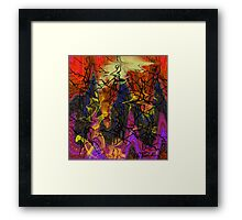 Digital abstract expressionism Framed Print