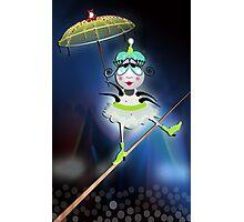 The Fleas Circus - The Tightrope Walker Flea Photographic Print