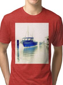 fishing at Woy Woy Bay 1.1 Tri-blend T-Shirt