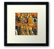 Orange abstract Digital Painting Framed Print