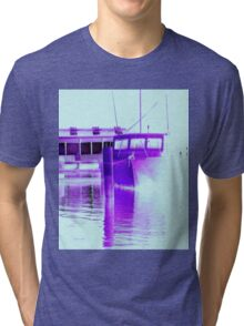 fishing at Woy Woy 3.0 Tri-blend T-Shirt
