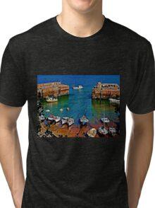 Newquay Harbour Tri-blend T-Shirt