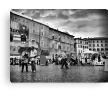Tourists in Piazza Navona Canvas Print