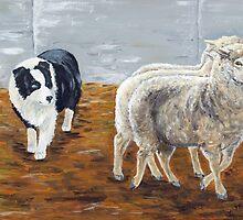Zagala Con Ojo Zaca - The Shepherdess by Victoria Mistretta