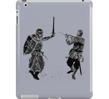 For victory wear a t-shirt: Medieval knights fight! iPad Case/Skin