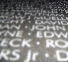 Written In Stone, Vietnam Memorial by JordyS