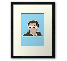 David Tennant 3D Glasses rotoscope Framed Print