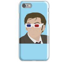 David Tennant 3D Glasses rotoscope iPhone Case/Skin
