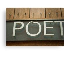 Poet Canvas Print