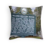 Oldest two story structure in the county.  Throw Pillow