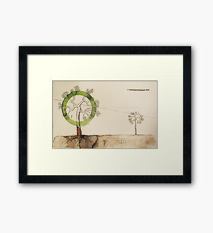 tree of life in binary Framed Print