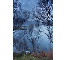 Tree house at dawn, Loch Torridon, Scottish Highlands Photographic Print